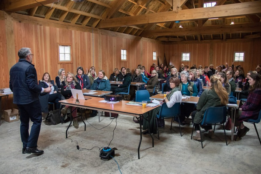 Image showing women in agriculture attending a group work shop.