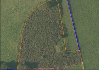 Arial view of land parcel