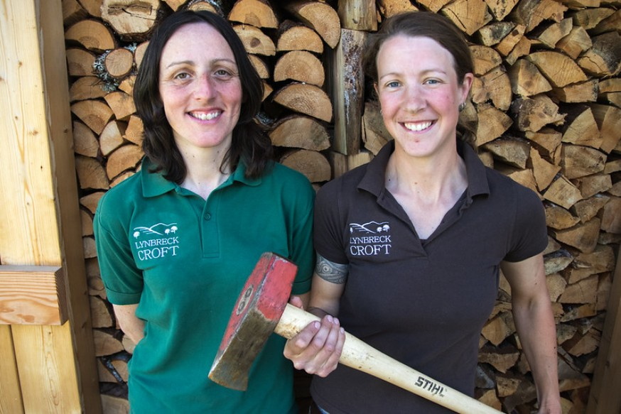 Photo of Lynn and Sandra, two Young Farming Climate Champions.
